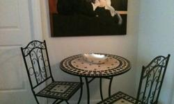$225 Beautiful Mosaic Cafe Table Set