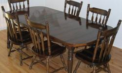 $225 Dining Room Table and six chairs