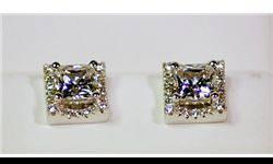 $225 Lady's Antique Style Sterling Silver Square Shape