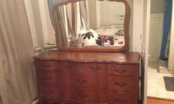 $225 OBO Antique Mahogany Dresser + Detatchable Mirror