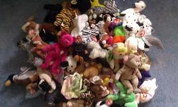 $225 OBO Lot of 42 Ty Beanie Babies. Prices Are Negotiable!!