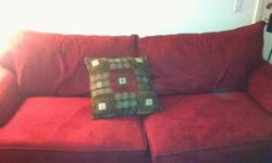 $225 OBO Red Microfiber Couch Set