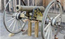 $22,500 Bronze 6 Pounder Model 1841 Cannon Descended in the