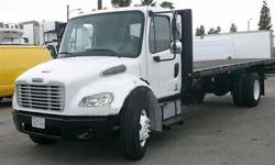 $22,900 2006 freightliner m-2 24 foot flatbed only 104000