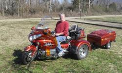 $23,000 Honda Goldwing Trike with Trailer