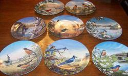 "$240 Knowles - Complete Set of 8 ""Birds of The Season"""