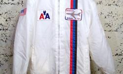 $24 Vintage White Nylon American Airlines Boeing 767 Lined