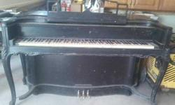 $250 ANTIQUE ORNATE HAND CARVED PIANO in need of some minor