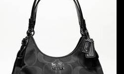 $250 Authentic Coach Signature Maggie Black NWT