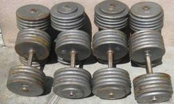 $250 Dumbbell Weight Sets 100-115 lbs