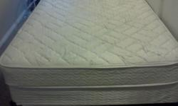 $250 Full Size Boxspring, Mattress and Bed Frame (less than