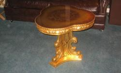 $250 Gold Leaf Accent Table