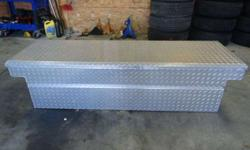 $250 Husky Diamond Plate Tool Box _________ Fits Full Size