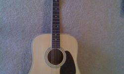 $250 Ibanez Artwood AW100NT acoustic guitar with extras
