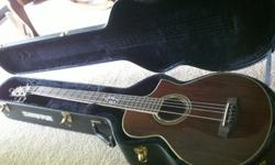 $250 Ibanez electric/acoustic 5-string bass