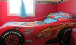 $250 Lightning McQueen Race Car Bed