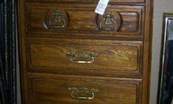 $250 Oak Chest of Drawers