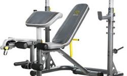$250 OBO Gold's Gym XRS 20 Olympic Workout Bench and weight