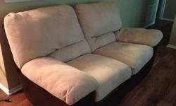 $250 OBO Microfiber/Leather Reclining Loveseat