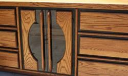 $250 Solid Oak Dresser with Mirror