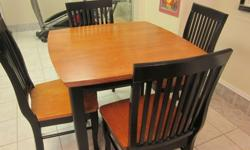 $250 Solid Wood Table and chairs