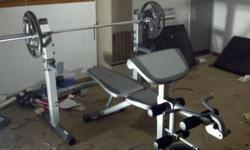 Sportek Weight Bench / Weight benches are a standard piece of gym equipment with a horizontal or mostly horizontal top surface designed to be sat upon or lain upon while performing an exercise for use in weight training.