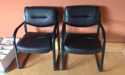 $25 2 Leather Side Chairs