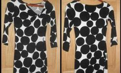 $25 Express ''XS'' Black and White Polka Dots Dress
