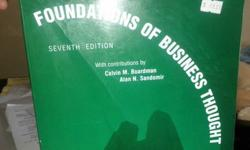 $25 Foundation of Business thought College Book