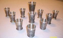 $25 German Pewter Schnapps Cups