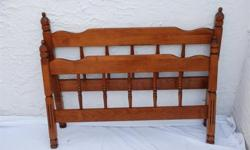 $25 Maple Wood Twin Bed Headboard and Footboard Colonial