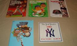 $25 NY Yankees Yearbooks (1973 & 1974) + 1981 Picture Album