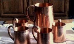 $25 OBO Copper Pitcher/4 Mugs
