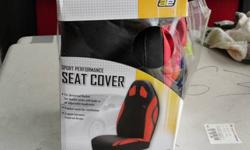 $25 Red and Black driver and passenger side seat covers