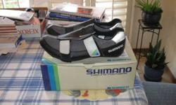$25 Shimano bike shoes size 9 with cleats (nwokc)
