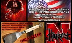 $25 USA Big Spatula / Bottle Opener Support Husker Salute