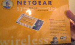 $25 wireless card for laptops brand new still with securty