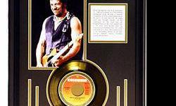 $264 Bruce Springteen Giclee with Gold Record