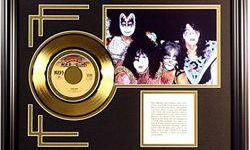 $264 The Kiss Giclee with Gold Record