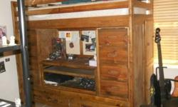 $275 All in One Bunk Bed, All Wood, Great Shape......