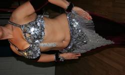 $275 FOR SALE: Vintage style velvet & coins belly dance