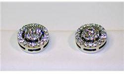 $275 Lady's Antique Style Sterling Silver Diamond Earrings