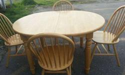 $275 Light Wood Dining Table & 6 Chairs