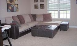 $275 OBO Used Microfiber Sectional