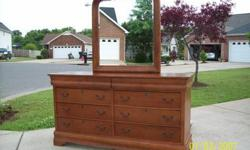$280 Light Cherry Dresser with Mirror--Reduced to