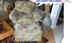 $280 OBO LaZ-Boy Tropical Club Chair & Ottoman