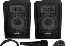 $299.99 Phonic 4 channel PA with Speakers, Alesis MidiVerb4