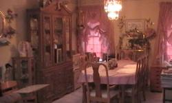 $299 formal dinning room set, all wood Oak