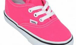 $29.99 Vans Authentic Infants Neon Pink True White