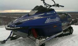$2,100 2001 yamaha mountain max 700 triple